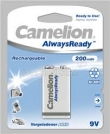 12 x Camelion rechargeable Always Ready NimH 9v/HR22 200mAh
