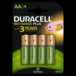 40x Duracell Rechargeable NimH Stay Charged AA/HR6  1300mAh (blister 4)