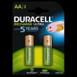 20x Duracell Rechargeable Stay Charged AA/HR6 2500mAh blister 2