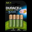 40x Duracell Rechargeable NimH Stay Charged AA/HR6 2500mAh (blister 4 )