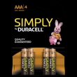 40x Duracell Simply Alkaline AAA/LR03 (blister 4)