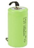 10 x Camelion Rechargeable NimH C/LR14 350mAH with soldertags